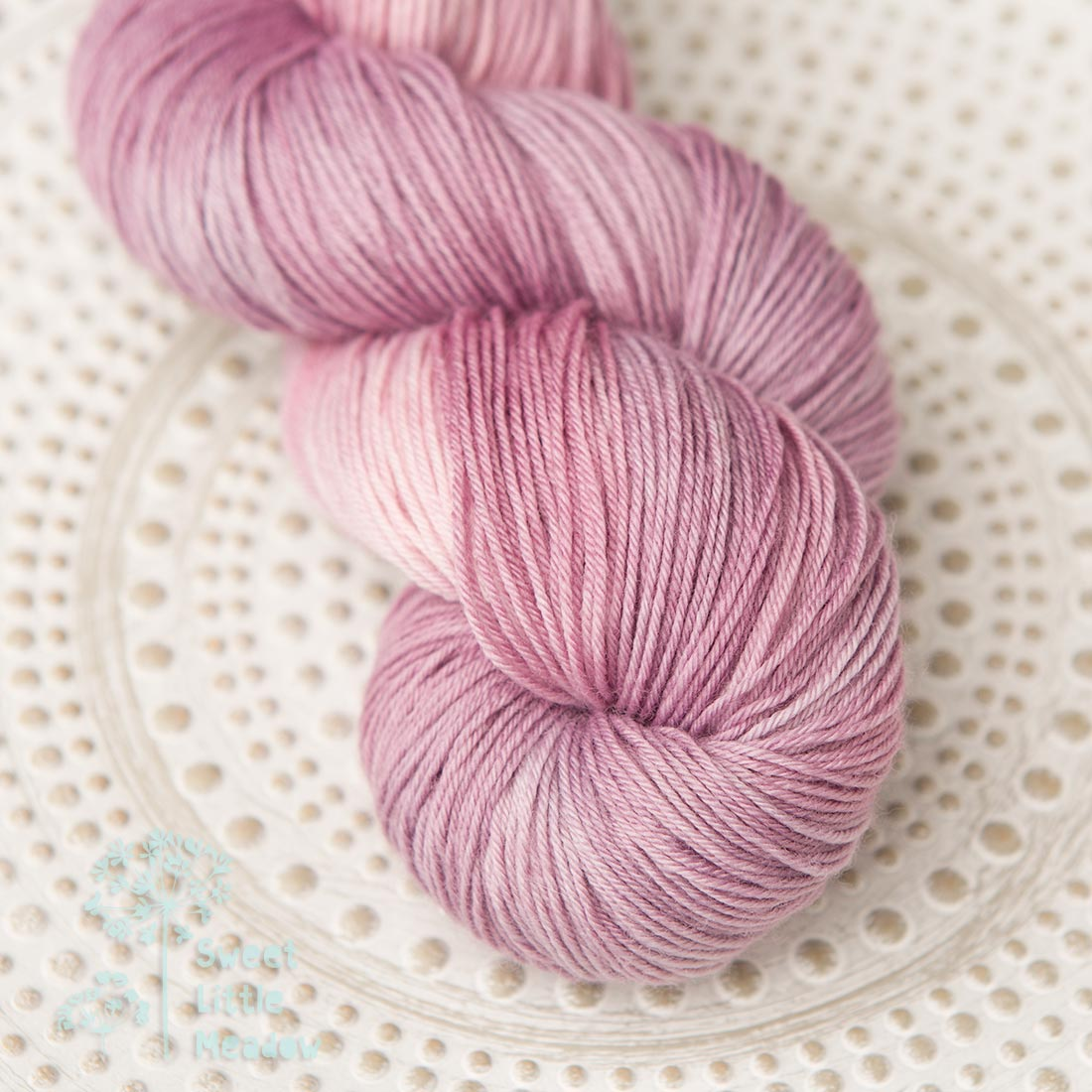 Lovely pink rose skein 4ply sock wool merino superwash handdyed indie dyer