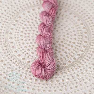 Pink mist. Hand dyed mini skein DK wool. Indie dyer. Merino superwash